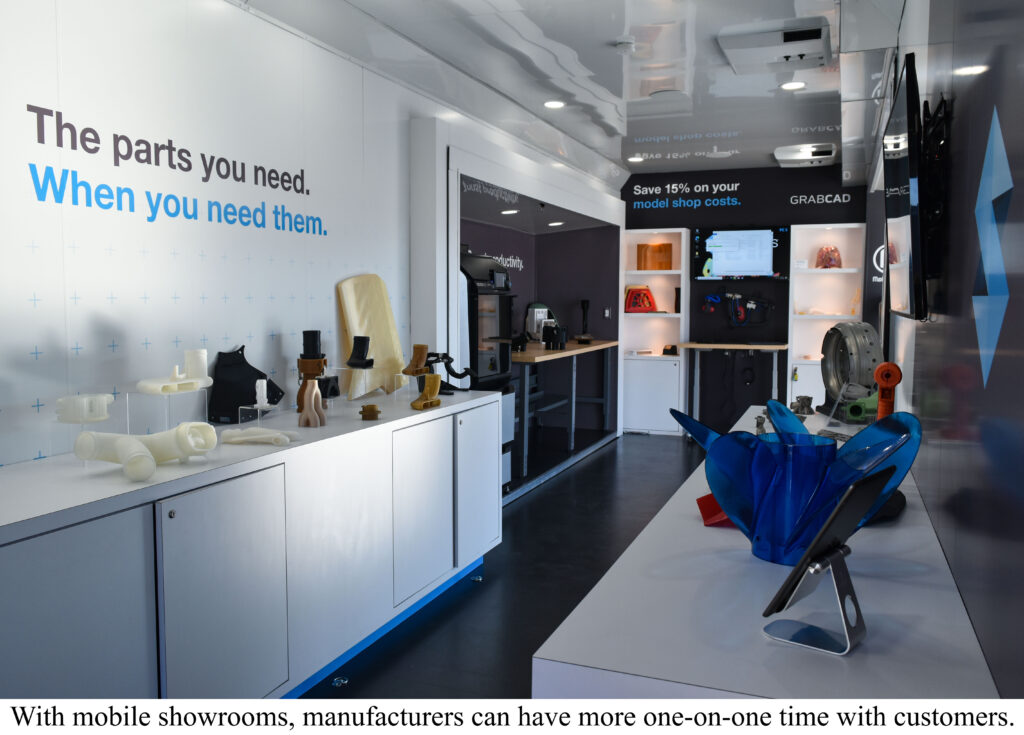 Stratasys Mobile Trade Show Booth by Craftsmen Industries with caption