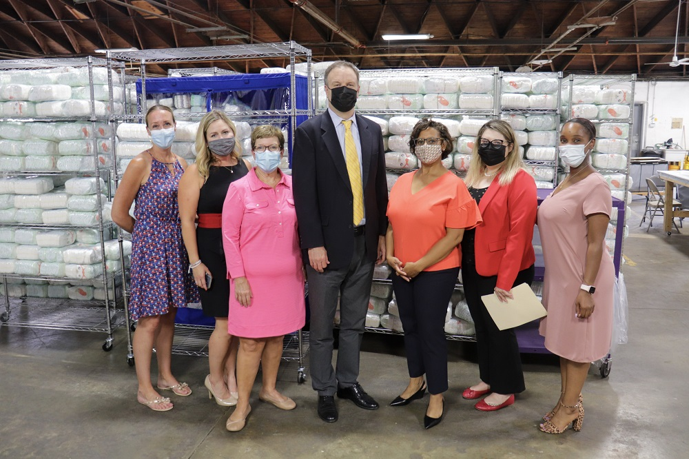 St. Louis County Executive Sam Page at the St. Louis Area Diaper Bank