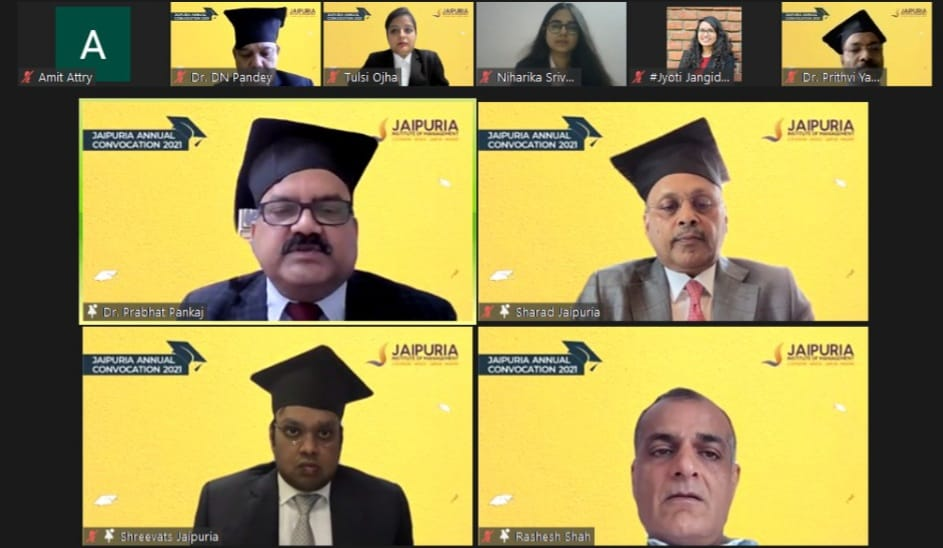 Jaipuria Institute of management organises 2nd e-convocation, 1023 students awarded degrees