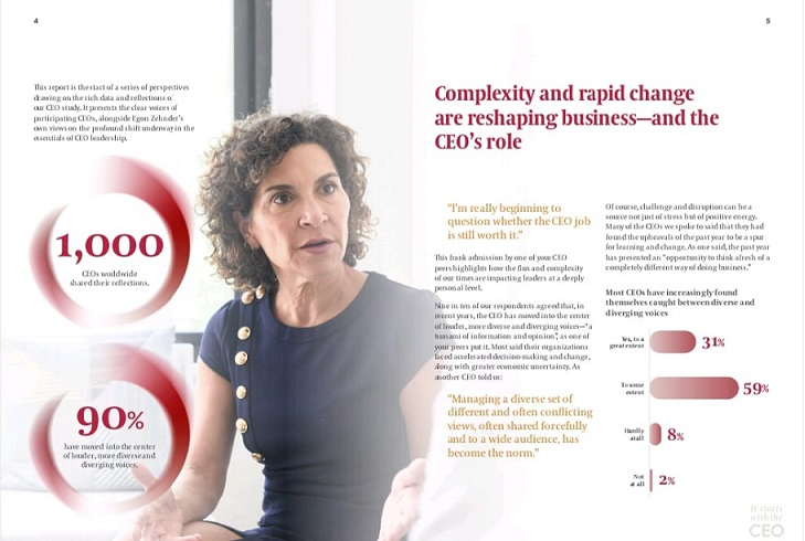 Egon Zehnder Global Study Reveals Ceos Are More Self-Aware, Yet Need To Become More Relational And Adaptive