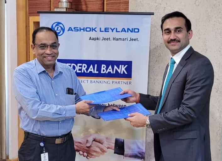 Federal Bank signing agreement with Ashok Leyland