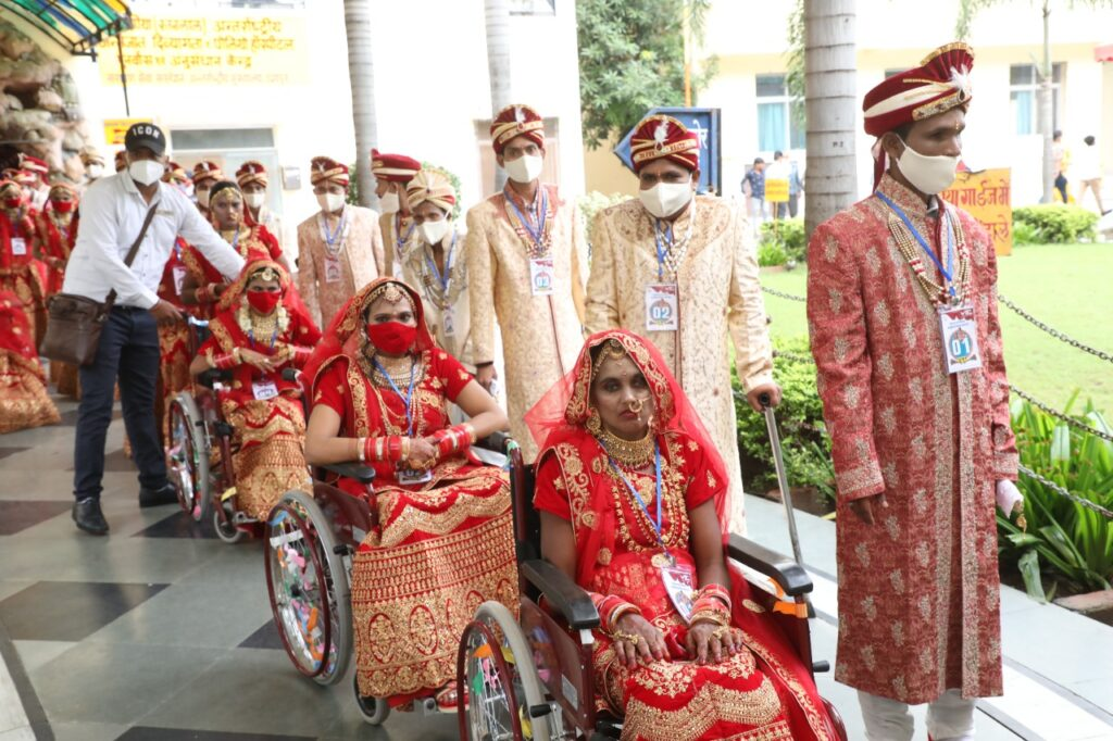 36th Mass Wedding by NSS witnessed 21 differently abled individuals urging people 'To Get Vaccinated' to fight against COVID-19