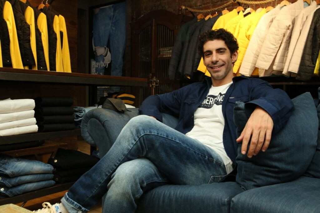 Actor Jim Sarbh at the AW'21 collection launch of Numero Uno in the Capital..