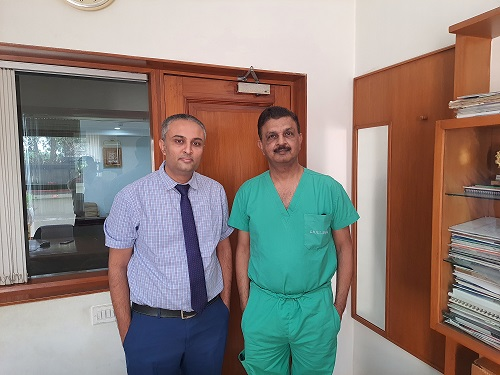 DR. VIKRAM (ON RIGHT) WITH DR. VIRAL